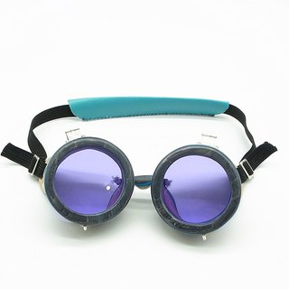 Handmade Recycled Skateboard Goggles 004 with Silver Hinges