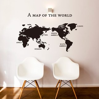 """Smart Design"" Creative Seamless wall stickers ◆ World Map"