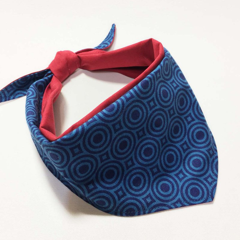 Exclusive Dog Scarf-Customized (Small Dog)-Blue Circle