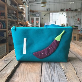 Taiwan eggplant / zipper storage bag (small)
