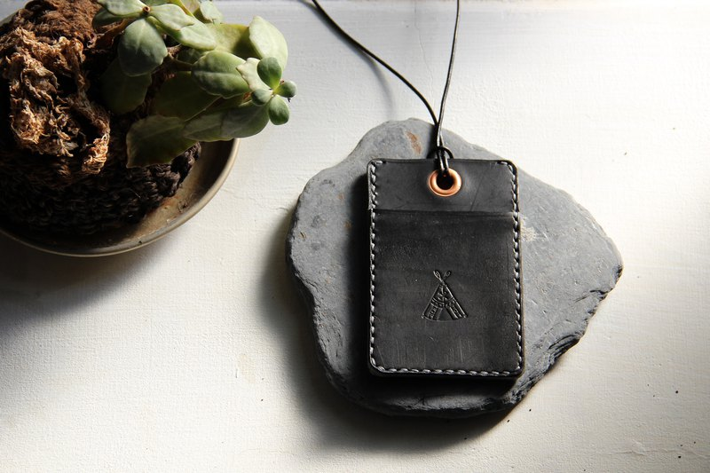 Handmade leather identification card set