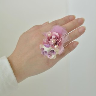 Baum flower ring pink pearl