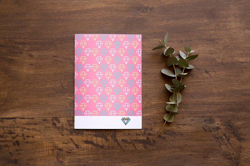 Pink Diamond Self-filled Date Calendar Calendar Notebook_Rococo Strawberry WELKIN 2020
