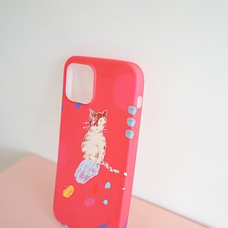 Street cat diary mobile phone shell biscuit tabby kitten - red iphone full range of various models custom