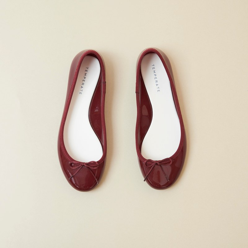PRIMA (BORDEAUX)  PVC BALLERINA SHOES バレリーナシューズ