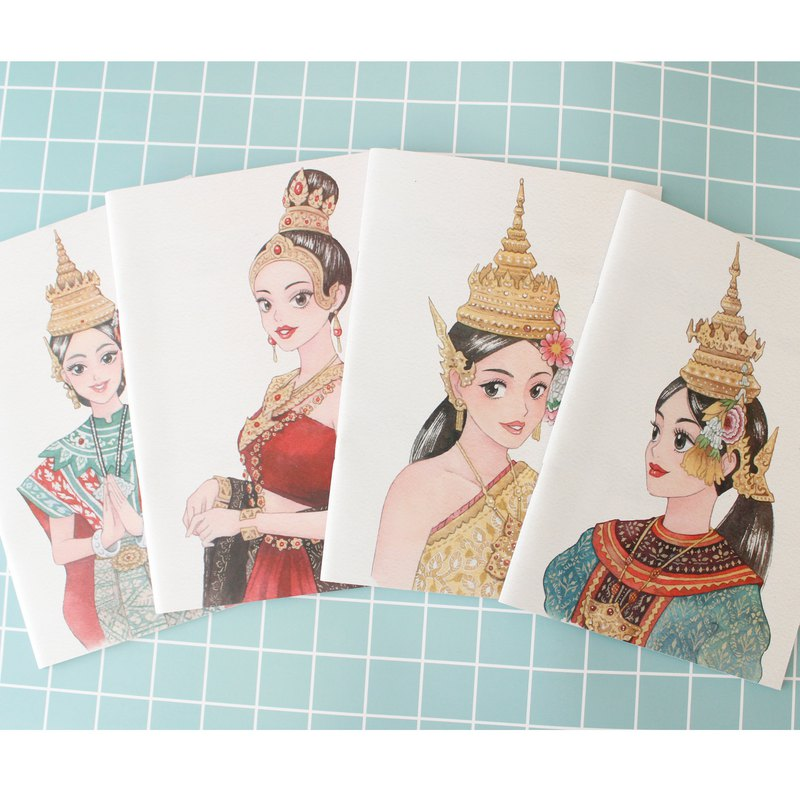 Notebook A4 set 4 pcs :Grid line