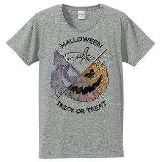 [Tシャツ] Halloween pumpkin / Gray