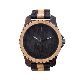 Plantwear – URBAN SERIES – BLACK & WHITE EDITION WOOD TIMBER WRIST WATCH