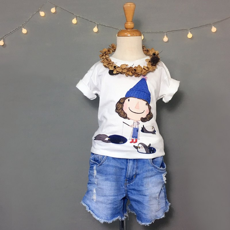Children's cotton T-shirt \Dolly Duo Li catches the crown /