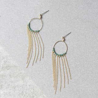 Peacock feather stainless steel earrings gold earrings
