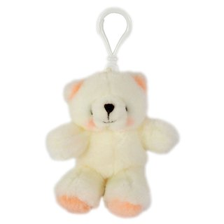 3.5吋/White Bear Key Ring [Hallmark-ForeverFriends Fleece-Key Ring Series]