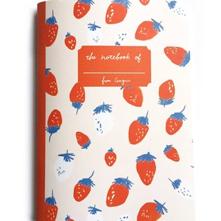 Grid Notebook | Strawberry A5 Notebook, Pink Notebook, Cute Notebook, School Notebook