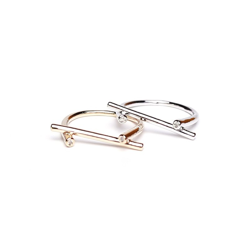 Strip Gold / Silver Ring