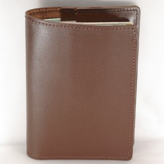 Passport Holder Passport Case Cowhide Leather Leather Brown Soft Leather Custom Lettering Service