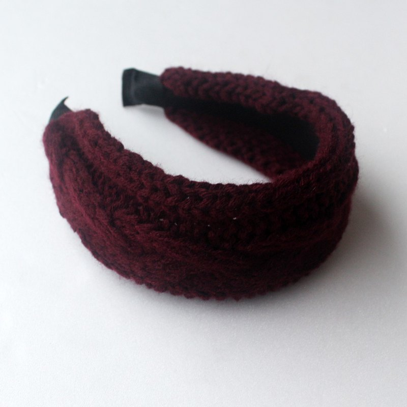 Wine Knitted Headband,Knitting Headband,No SLIP / NO headache / No hard