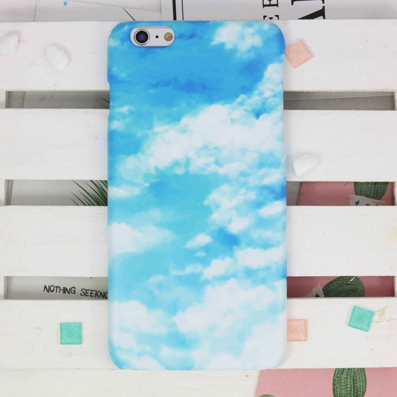 Sky Cloud Day Matt finishes rigid hard Phone Case Cover for iphone X 7 Galaxy S9