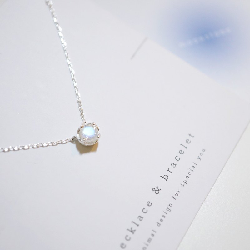 MOONSTONE SILVER NECKLACE | MOONSTONE COLLECTION
