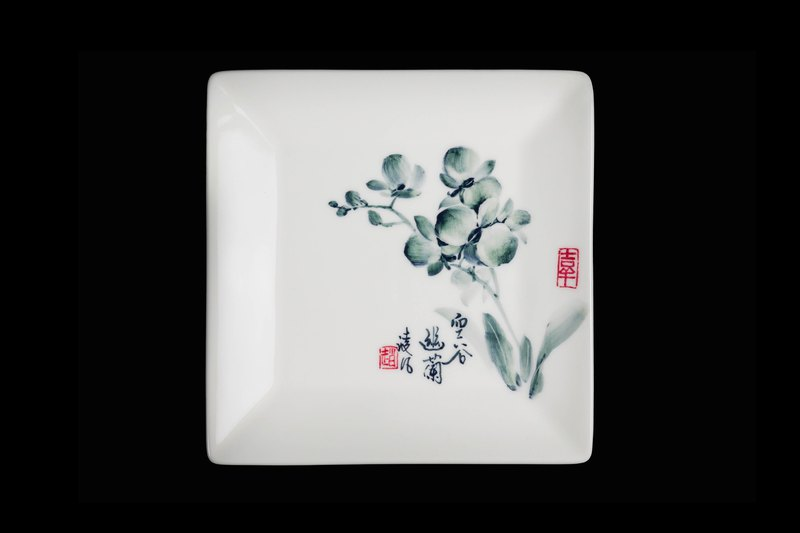 Orchid Square Plate