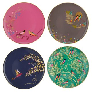 Sara Miller London for Portmeirion Chelsea Collection Cake Plates Set of 4