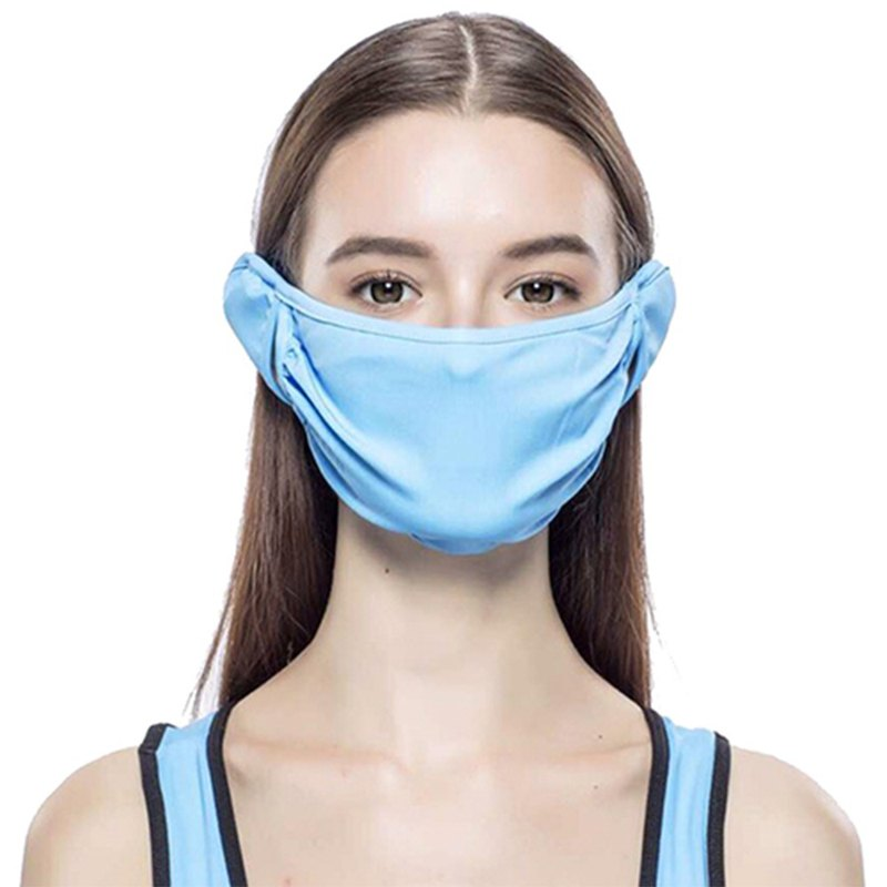Plain Mouth Mask - Adult - Blue