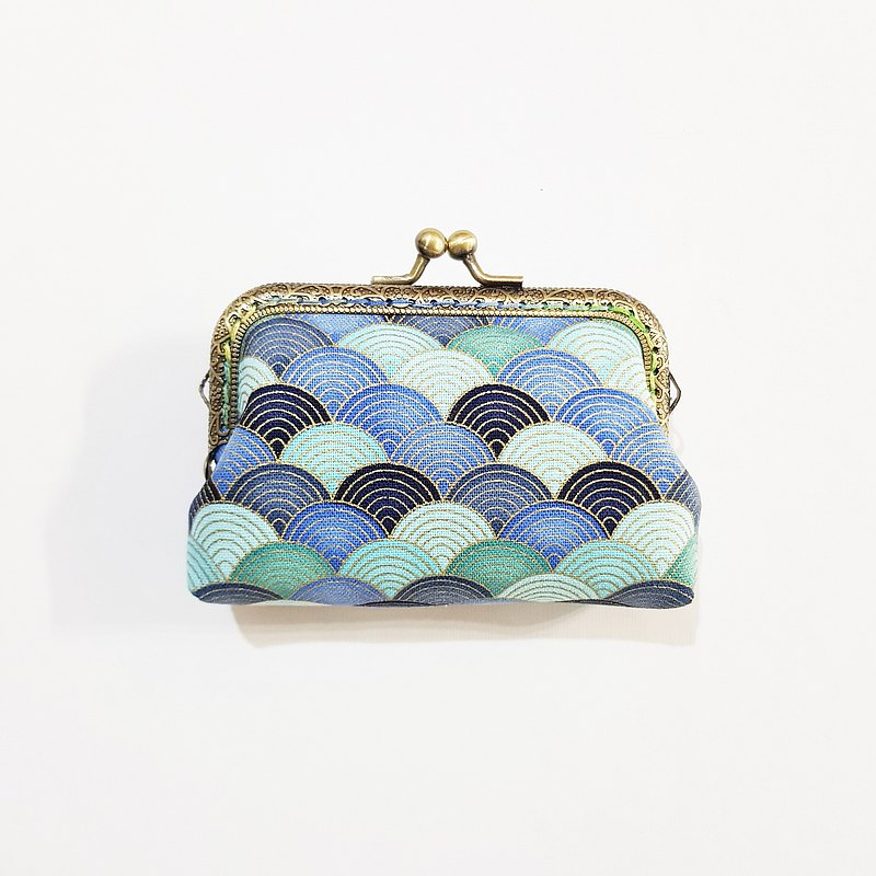 【Beautiful Cloud-Blue】 Gold purse purse clutch