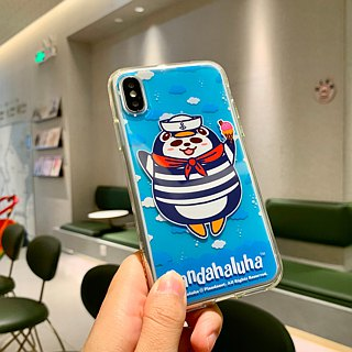 Pandahaluha TPU soft plastic frame transparent phone case (iPhoneX)