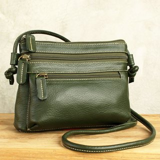 Mini Cross Body Bag - Cookies - Green (Genuine Cow Leather) / 皮 包