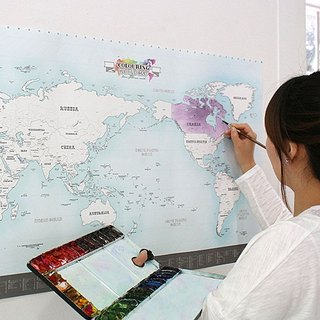 indigo- World Map Poster (revised - leaflet) -03 Coloring Pages (Limited Delivery), IDG70350