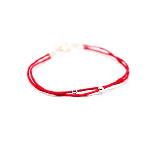Serendipity pray red line 925 sterling silver beads / red line Christmas gift