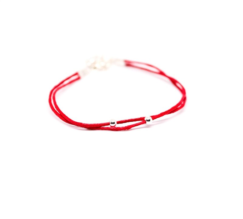 Serendipity pray red line 925 sterling silver beads / red line exchange gift