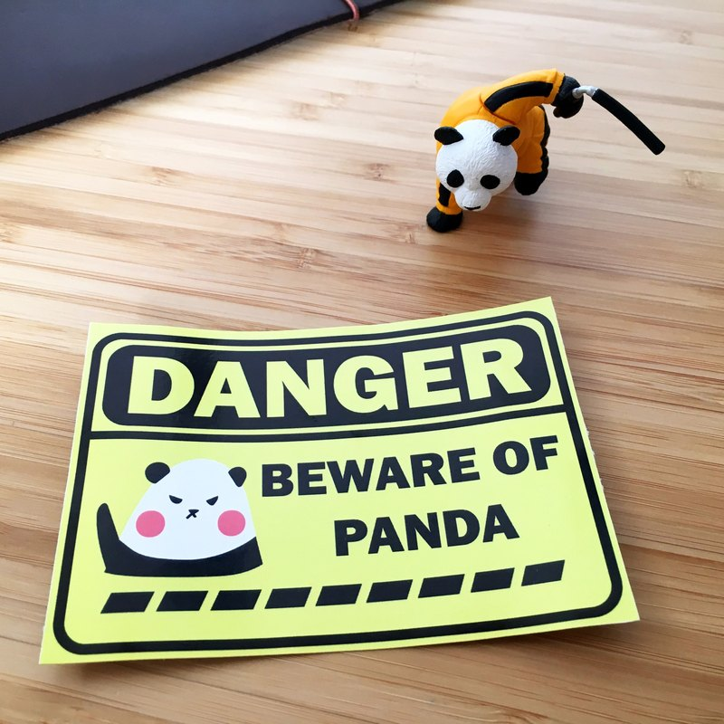 Take Panda with You Luggage Sticker - Beware of Panda