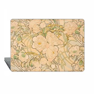 Alphonse Mucha Peonies  Macbook Pro 13 touch bar classic art Case floral MacBook Air 13 Case macbook 11 Macbook Pro 15 Retina art Case Hard 1513