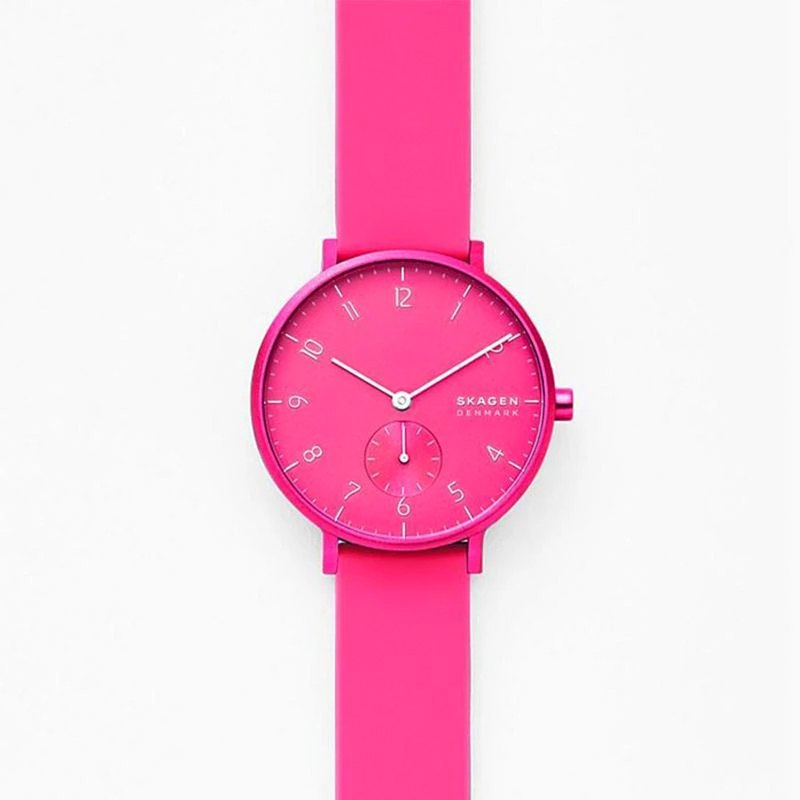 Aaren Kulor Neon Hot Pink Silicone Watch 36mm - SKW2822
