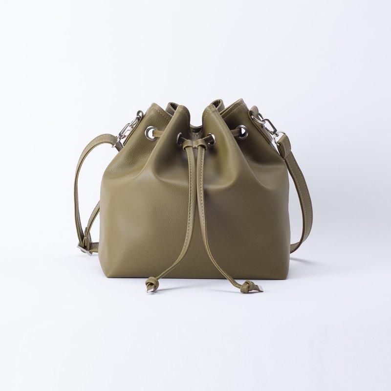 新品 舒適肩背水桶包 - 抹茶綠