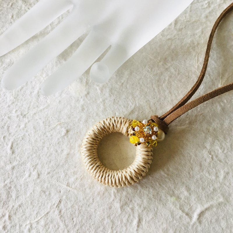 Vitamin yellow necklace