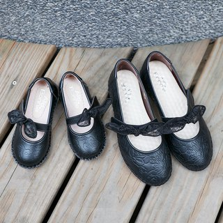 啾啾 bow doll shoes - black kids