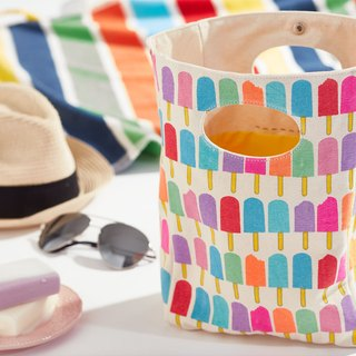 Exchange gifts ► Canadian fluf organic cotton with handbag - small popsicles