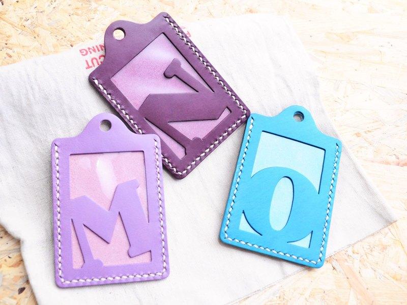 【頭文字M|N|O 英文字母證件套】好好縫 皮革材料包 免費壓字 手工包 卡片套 卡片夾 名片夾 簡約實用 意大利皮 植鞣革 皮革DIY
