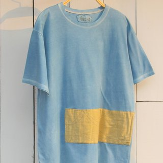 Free blue dye plant dye isvara earth-friendly cotton T-shirt streamline