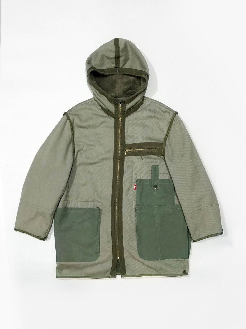 THE ORIGINAL EMR / 1989 German moleskine Parka Liner / Remak