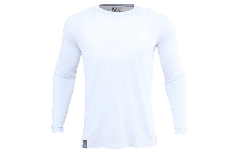 tools men's light-sleeved cotton long-sleeved round neck T # white :: comfort :: cotton :: skin 171221-09