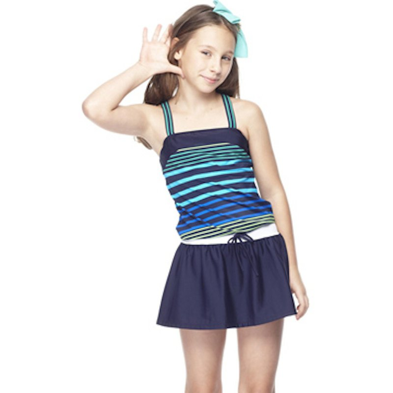 MIT older kids striped two-piece swimsuit