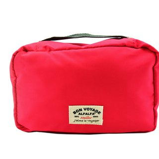 Jaime le Voyage Toiletry Bag(Cherry pink)