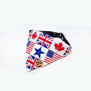 Ella Wang Design Scarf Pet White England Flag Scarf Cat Dog