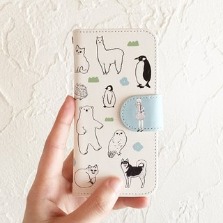 Animal-filled notebook type iPhone case 6 / 6S / 7