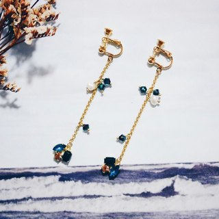Golden Feast - black jade green models - natural pearl earrings inlaid zircon (Limited product)