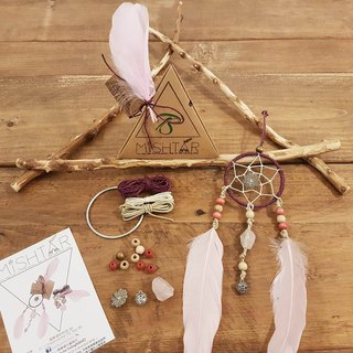 DIY Dreamcatcher (set B) kit set~ Valentine's Day gift birthday present Christmas gifts Indian.