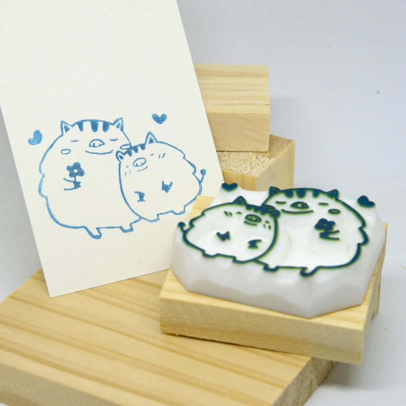 [handmade rubber stamp] love each other