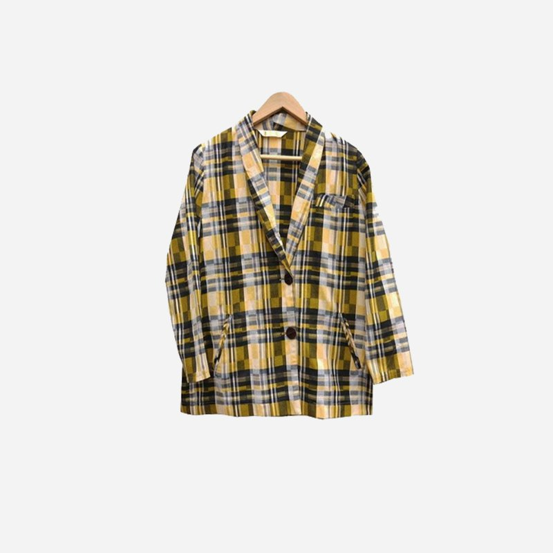 Dislocated vintage / plaid blazer no.045 vintage