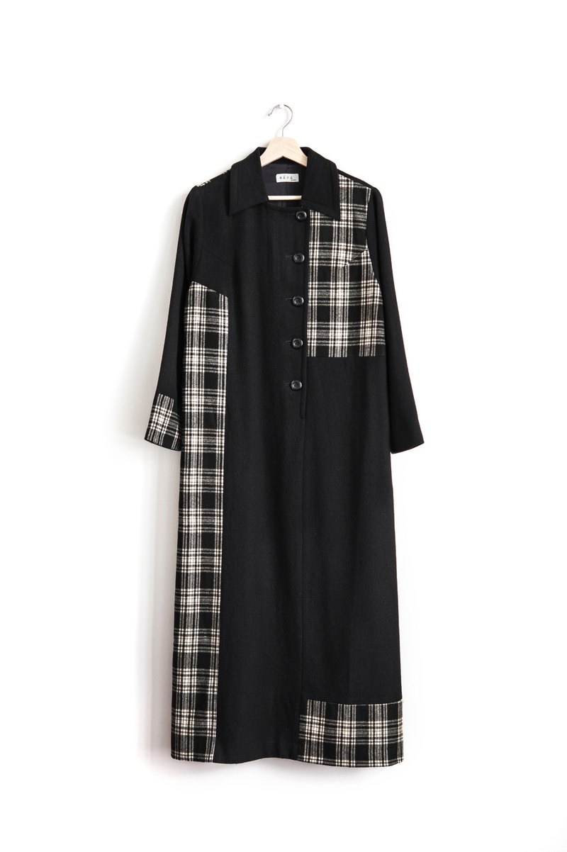 Vintage plaid wool vintage long sleeve dress